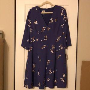 Purple Anne Klein dress